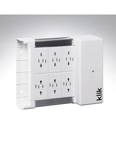 Hager Klik Lighting Distribution Box 6 Way