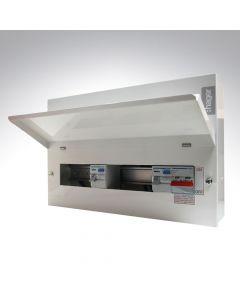 Hager Design 10 16 Way Dual RCD Metal Consumer Unit