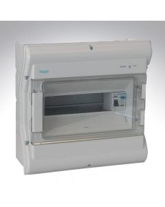 Hager IP Rated Consumer Unit 10 Way + RCD