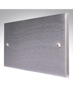Brushed Chrome Double Blank Plate