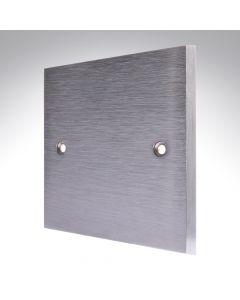 Brushed Chrome Single Blank Plate