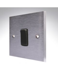 Brushed Chrome Switch 20A DP 1 Gang