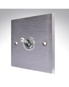 Brushed Chrome Dolly Switch 1 Gang 10A