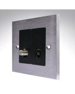 Brushed Chrome TV/Satellite Socket