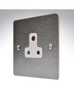 Sheer Satin Steel Unswitched 5a Socket