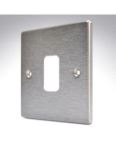 Hartland Satin Steel 1 Gang Grid Plate