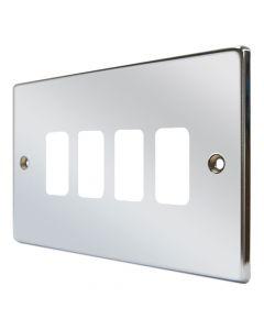 Hartland Chrome 4 Gang Grid Plate