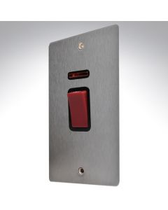 Sheer Satin Steel 45a Vertical Double Pole Switch