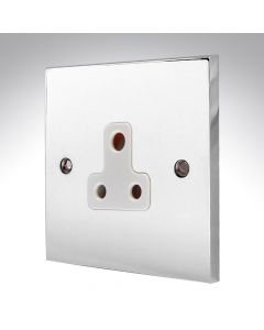 Polished Chrome Unswitched 5A Socket