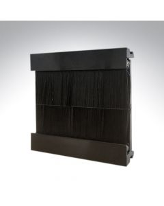 Brush Plate Euro Module Black 50x50mm