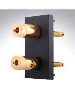 Hamilton Euro Speaker Connection Black Mod 50x25mm