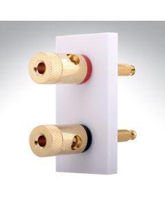 Hamilton Euro Speaker Connection White Mod 50x25mm