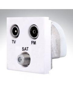 Hamilton TV/Satellite/FM Triplexer Module White