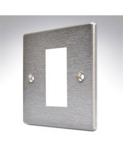 Hamilton Hartland Stainless Steel 1 Gang Modular Plate