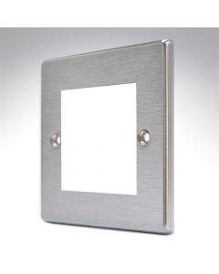 Hamilton Hartland Stainless Steel 2 Gang Modular Plate