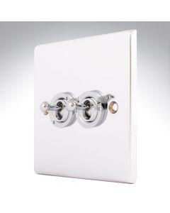 Hartland Chrome 2 Gang Toggle Switch