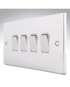 Hartland Chrome 4 Gang Light Switch