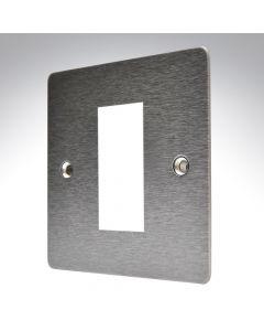 Hamilton Sheer Satin Steel 1 Gang Modular Plate