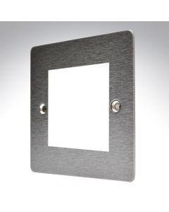 Hamilton Sheer Satin Steel 2 Gang Modular Plate