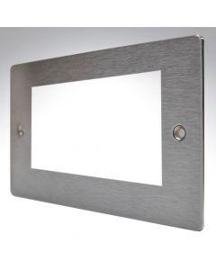Hamilton Sheer Satin Steel 4 Gang Modular Plate
