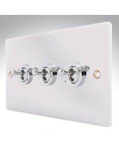 Sheer Chrome 10a 3 Gang Dolly Switch