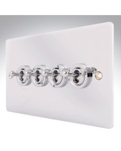 Sheer Chrome 10a 4 Gang Dolly Switch