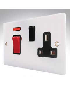Sheer Chrome 45A Cooker Switch + Neon + Socket