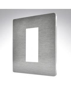 Sheer CFX Satin Steel 1 Gang Modular Plate