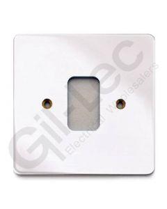 MK Edge Grid Plate 1 Module Polished Chrome