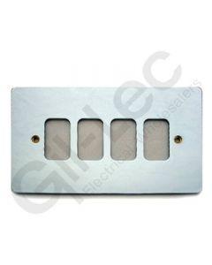 MK Edge Grid Plate 4 Module Polished Chrome