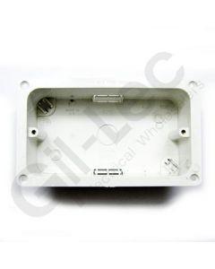 MK Flush Flanged Box 2 Gang 45mm