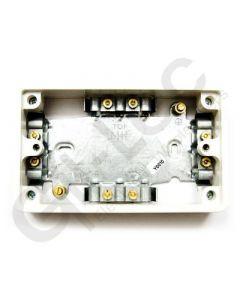 MK Surface MI Cable Box 2 Gang 37mm