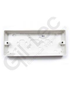 MK Surface Box Architrave 1 Gang 16mm