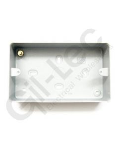2 Gang Surface Box + Knockout 86x146x41mm