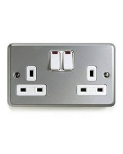 Gang 13a Switched Socket with Neon