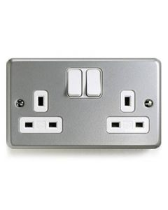 Switched Socket 2 Gang 13a Double Pole