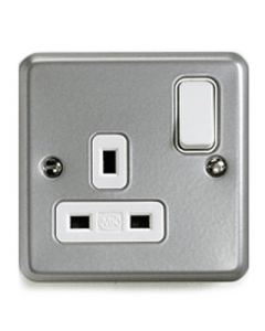 Switched Socket 1 Gang 13a Double Pole