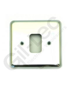 MK Grid 1 Module Frontplate Polished Chrome