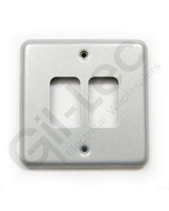 MK Grid 2 Module Frontplate Aluminium