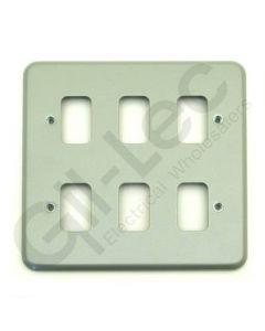MK Grid 6 Module Frontplate Aluminium