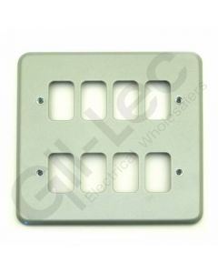 MK Grid 8 Module Frontplate Aluminium
