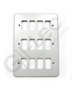 MK Grid 12 Module Frontplate Aluminium