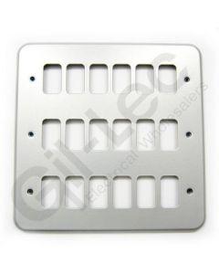 MK Grid 18 Module Frontplate Aluminium