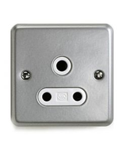 Unswitched Roundpin Socket 1 Gang 15a