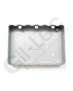 MK Grid Surface Aluminium Box 9-12 Gang + Knockout