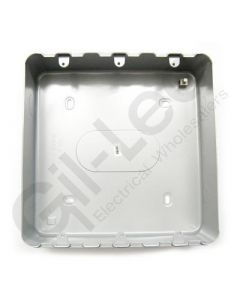 MK Grid Surface Aluminium Box 18 Gang + Knockout