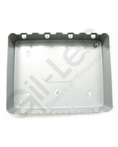 MK Grid Surface Aluminium Box 24 Gang + Knockout