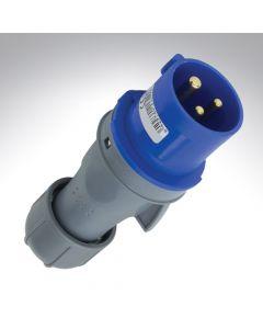 Lewden 16A 240V 3 Pin Industrial Blue Plug