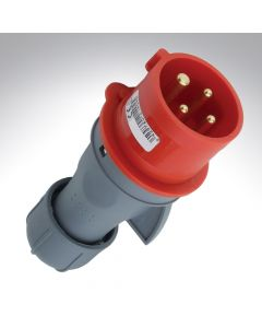 Lewden 32A 415V 4 Pin Industrial Red Plug