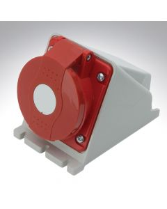 Lewden 16A 415V 4 Pin Surface Angled Socket